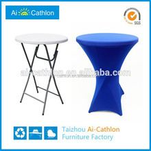 Outdoor party event bolw mlod HDPE high bar table design for sale