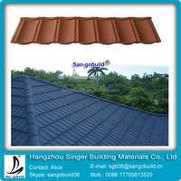 New Cheap Colorful Stone Coated Metal Roofing Tiles for villa