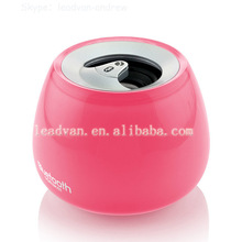 mini crystal hands free bluetooth speaker portable wireless car subwoofer