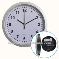 Hot Selling 10''inch Plastic Wall Clock With Hidden Safe