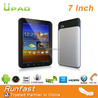 Um767 7 inch Tablet PC with Built-in 2-3G/GPS/Bluetooth Android 4.0 OS Dual Core Cheap Tablet Made in China