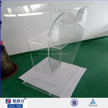 Heart Shaped Plexiglass Clear Acrylic Podium Pulpit Lectern Church Pulpit