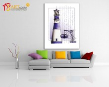 South island lighthouse wall plaque canvas oil painting