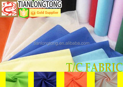high quality polyester & cotton fabric for work