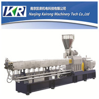 Factory base high productivity plastic raw material compounding pellet making machine