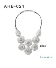 2015 spring & summer new design hollow-out decorative pattern fashion necklace