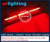 led visor lights red/ Red 18 LED Visor Dashboard Emergency Vehicle Strobe Lights