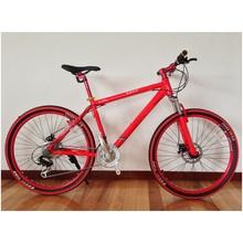 Integrated wheel mountain bike,red mountain bike,mountain bike 27 speed