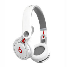 New Original Beats by Dre Mixr HD On-Ear Stereo Headphones with inline Remote & Mic White