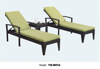Fay Outdoor Lounge Chair Durable Used Hotel Pool Furniture PE Rattan Chaise Lounge With Side Table