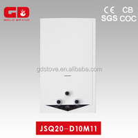Convenient white coating panel 20L water heater gas/ thickness flue type gas boiler for housing