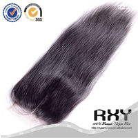 "Fast shipping 8""-24"" high quality middle part brazilian hair lace closure"