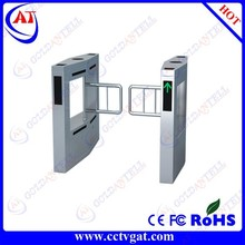 Exhibition ticket system security one way swing barrier