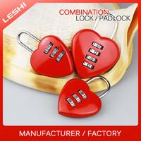 China Manufacturer Safety Digital Combination Heart Padlock