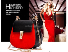 new design red and black pu leather mimco man rondon bag
