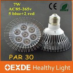 7W Par30 led grow lights E27 Red&Blue homemake plant lamp for flowering plants E27 Par led grow light for hydroponics