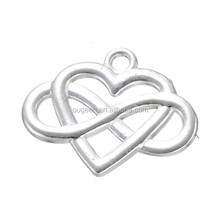 Silver tone plated cross heart charms pendant accessories DIY jewelry findings