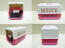 Lovable pink pet airline travel cage / Dog Flight Carrier