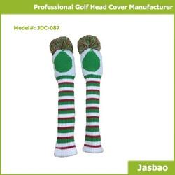 Custom Designed Stripe Knitted Golf Club Head Cover