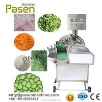 Automatic leaf vegetable cube cutting machine