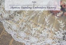 2015 fashion wholesale white wedding dress for trimming