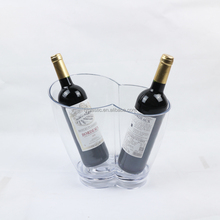 double wine bottle ice cooler for party