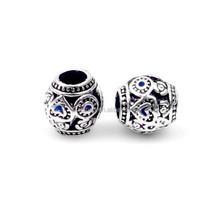 Nueva Pulsera de Perlas,Antique Silver Plated Zinc Alloy Beads Bracelet DIY Beads