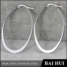 Fashion High Pulished 316 Stainless Steel Big Hoop Earring/Cheap Wholesale In Stock Women's Jewelry Big Hoop Earring