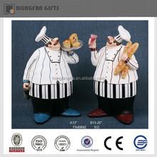 Popular resin restaurant chef decoration