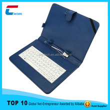 Top quality wired keyboard case with USB/Min/Micro USB interface /connector ,cuostom leather bluetooth keyboard case