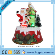 Christmas led lighed Santa Claus and mini house, bulk buy Chirstmas gift for kids, indoor Christmas lighting decorations