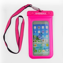 Universal Rose Red Waterproof Bags For Mobile Phone