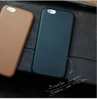 Synthetic Leather Simple Ultra Thin Protective Leather Back Shell Case For Apple iPhone 6 iPhone 6 Plus