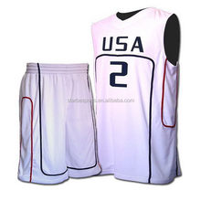 Design hot-sale custom number basketball men uniform