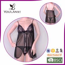 Hot Design Comfortable Sexy Lady Black Ladies Sexy Night Wear