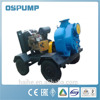 Self-priming trash pump with tractors