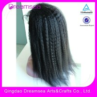 100% virgin human hair malaysian kinky straight full lace wigs natural 1b free part 150% thick density full ends
