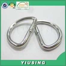 eco-friendly manufacturer hardware bag/strap/collar metal open d-ring