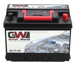 12v Car battery of automobile battery DIN55-5530MF Small 12V battery best price