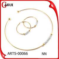 2015 fashion jewelry set match evening dress with earrings gold charm necklace set