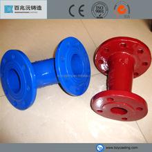 Ductile iron 90 degree epoxy coated elbow--double flange elbow in China