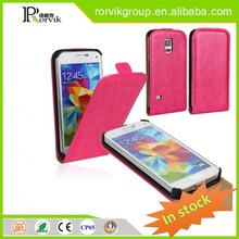 wholesale customized design glossy phone case leather with high quality for Samsung S5 mini