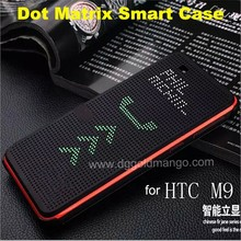 Fashionable dot view case Smart Phone Case For htc one m8, dot view case for htc desire 820, m8 dot view case