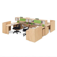 4 seat office workstation cubicle, Workstation Partitions