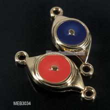 New design 17*10mm zinc alloy enamel charms pendantt eye shape