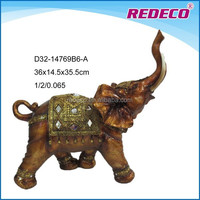 Home decoration resin elephant figurines
