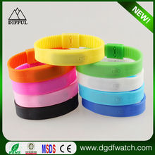 Led watch silicone,led silicon bracelet wrist watch,led watch