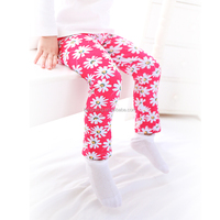 20148 icing pants girls leggings children colorful flowers leggings tight pants for dress