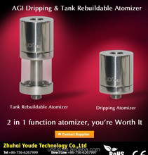 Hot sales AGA-T2 E-cigarette atomizer vape igo w youde AGI vape e liquid