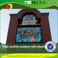 P7 outdoor smd billboard advertising led display outdoor led clock time date temperature sign
